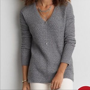 AEO Textired V Neck Sweater